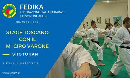 Stage Pistoiese con il M. Ciro Varone – Marzo 2018