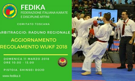 Lazio: Aggiornamento Regolamento WUKF 2018