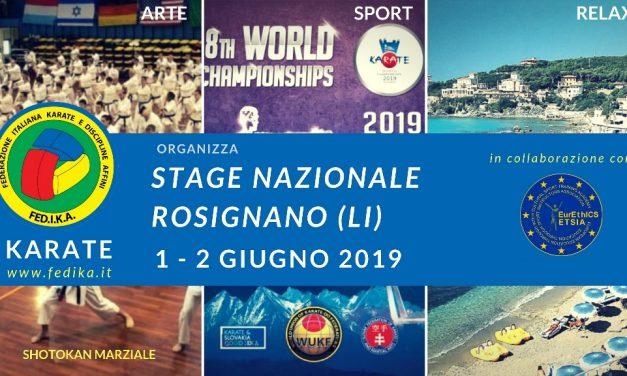 KARATE: Stage Nazionale FEDIKA 2019