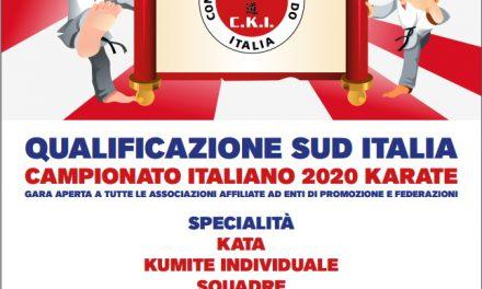 QUALIFICAZIONE SUD ITALIA AL KARATECCU 2020
